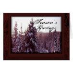 árboles del invierno tarjetas