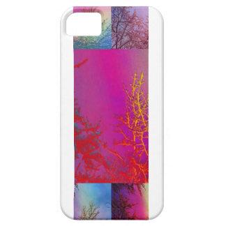 Árboles del invierno y extracto de los cielos del iPhone 5 fundas