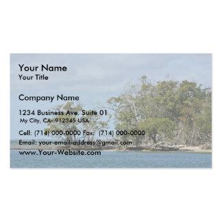 Árboles del mangle en la isla tarjeta de visita