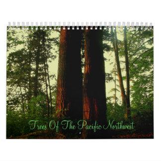 Árboles del noroeste pacífico calendarios
