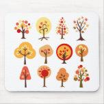 Árboles del otoño alfombrillas de ratones