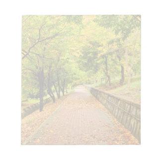 Árboles del otoño blocs de notas