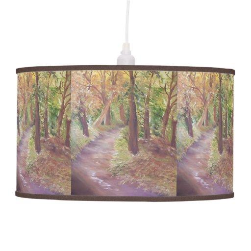 Árboles del otoño lámpara de techo