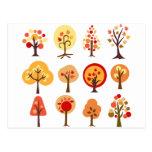 Árboles del otoño postal