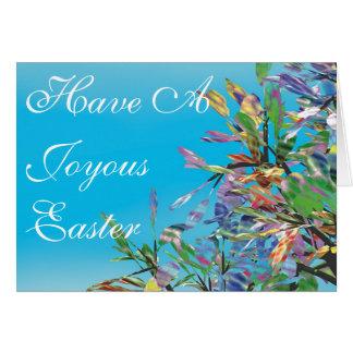 Árboles del paraíso #1 - un deseo de Pascua Tarjeta De Felicitación