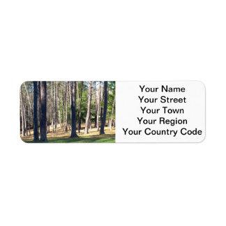 Árboles del parque etiqueta de remitente