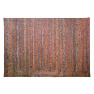 Árboles del rojo de Tannenwald del bosque del abet Manteles Individuales