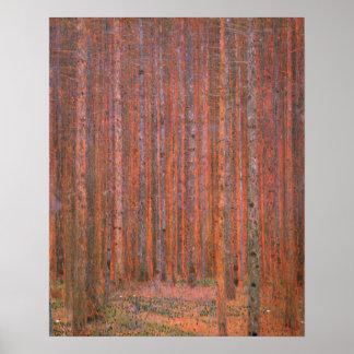 Árboles del rojo de Tannenwald del bosque del abet Impresiones
