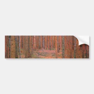 Árboles del rojo de Tannenwald del bosque del Pegatina Para Auto