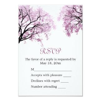 """Árboles del rosa en colores pastel - tarjeta de invitación 3.5"""" x 5"""""""