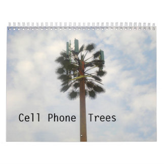 Árboles del teléfono celular calendarios