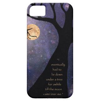 Árboles desnudos de la Luna Llena iPhone 5 Carcasas