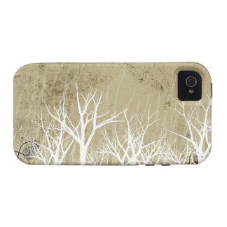 Árboles desnudos del invierno Case-Mate iPhone 4 funda
