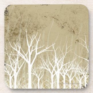 Árboles desnudos del invierno posavasos de bebidas