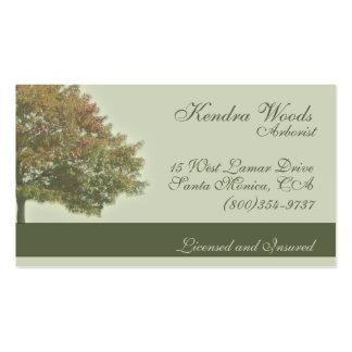 Árboles en caída tarjetas de visita