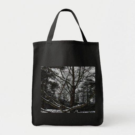 Árboles en el invierno bolsas