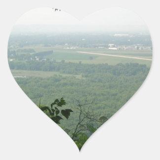 Árboles en el parque de estado de Wyalusing - Pegatina En Forma De Corazón