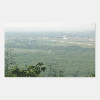 Árboles en el parque de estado de Wyalusing - Pegatina Rectangular