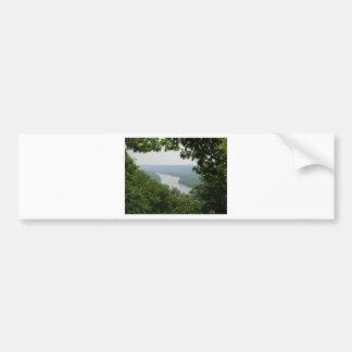 Árboles en el parque de estado de Wyalusing - puen Pegatina Para Auto