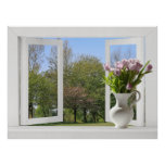 Árboles en la primavera - opinión de ventana abier impresiones