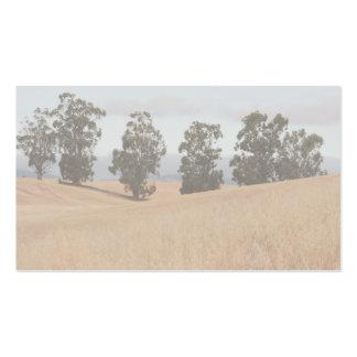 árboles en las colinas tarjetas de visita
