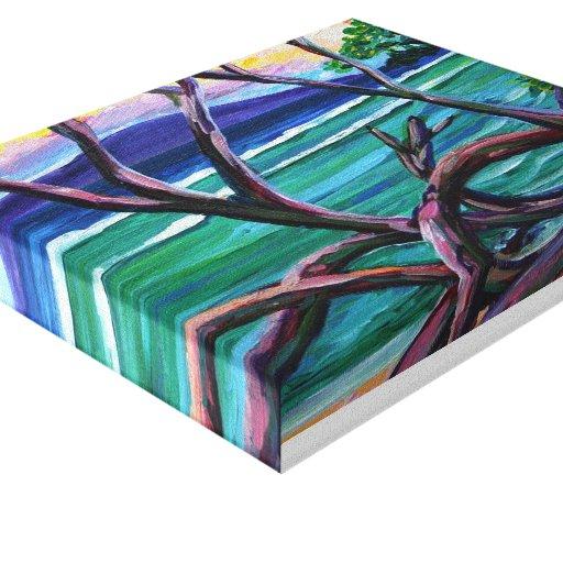 Árboles en mil picos lona estirada galerías