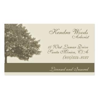 Árboles en moreno tarjetas de visita