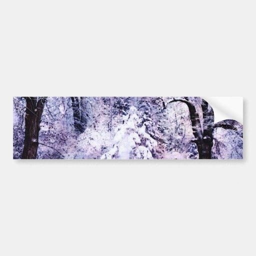 Árboles en nieve pegatina para auto