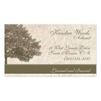 Árboles en papel del moreno plantilla de tarjeta personal