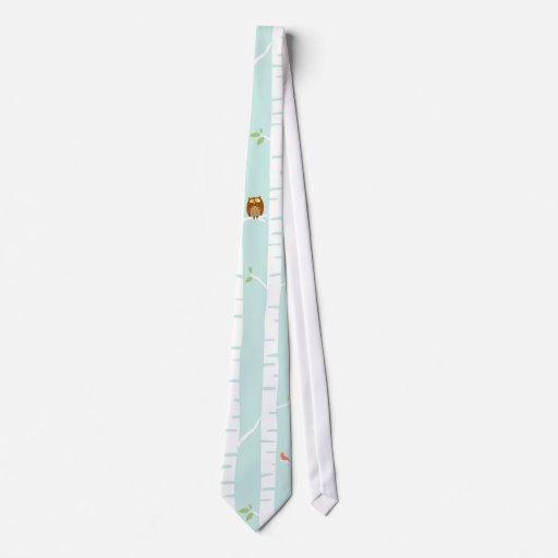 Árboles en primavera corbata personalizada