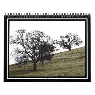 Árboles en una ladera calendarios