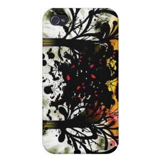 Árboles entrelazados iPhone 4 carcasas