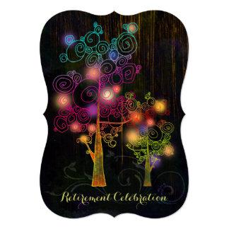 Árboles espirales + Fiesta de retiro de madera Invitaciones Personales