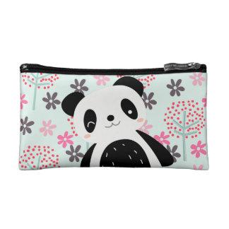 Árboles, flores, y osos de panda