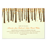 Árboles forestales que casan la invitación -