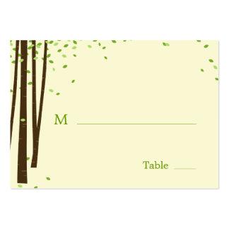 Árboles forestales que casan tarjetas planas del l tarjeta de visita