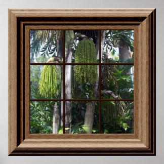 Árboles forestales tropicales de la falsa opinión póster