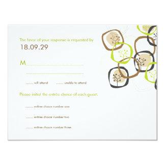 """Árboles forestales y tarjeta de contestación del invitación 4.25"""" x 5.5"""""""