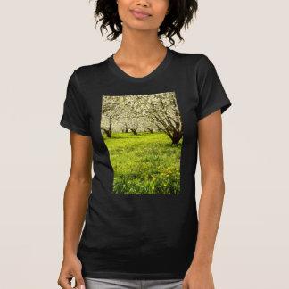 árboles frutales blancos en la floración, Hood Riv Camiseta