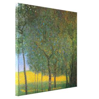 Árboles frutales de Gustavo Klimt, arte del Impresión En Lienzo Estirada