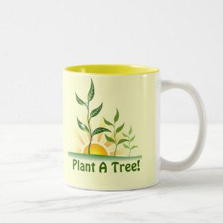 Árboles futuros taza de café de dos colores