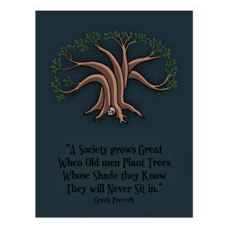 Árboles griegos tarjetas postales
