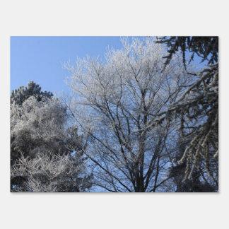 árboles helados señal