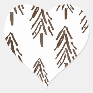 Árboles imperecederos pegatina en forma de corazón