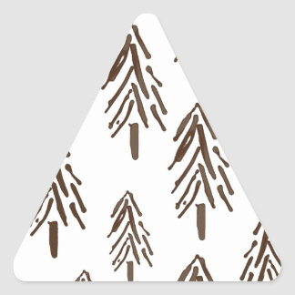 Árboles imperecederos pegatina triangular