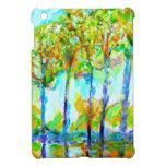 Árboles impresionistas en la oscuridad iPad mini protector