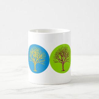 Árboles inspirados taza de café