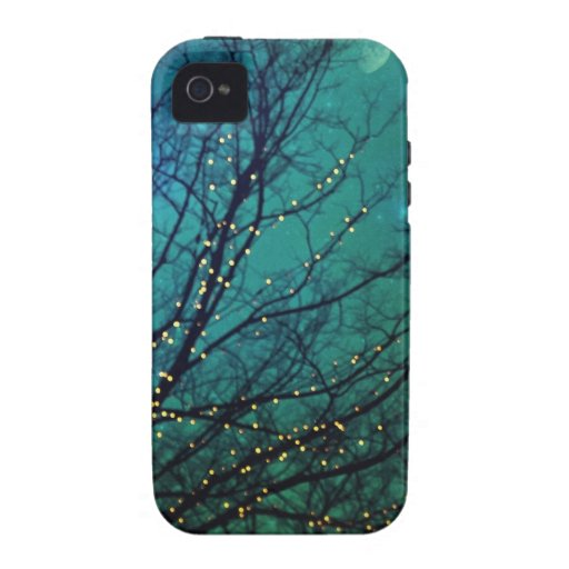 Árboles mágicos de la noche con el caso del iphone iPhone 4 fundas