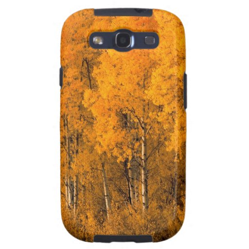 Árboles Montana de Aspen del otoño Samsung Galaxy SIII Funda