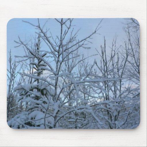 Árboles Nevado Alfombrillas De Raton